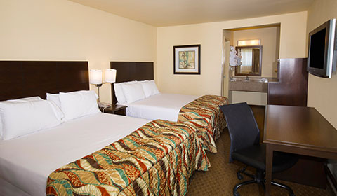 Two Queen Beds at Key Inn and Suites, Tustin